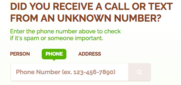 suspicious phone number lookup
