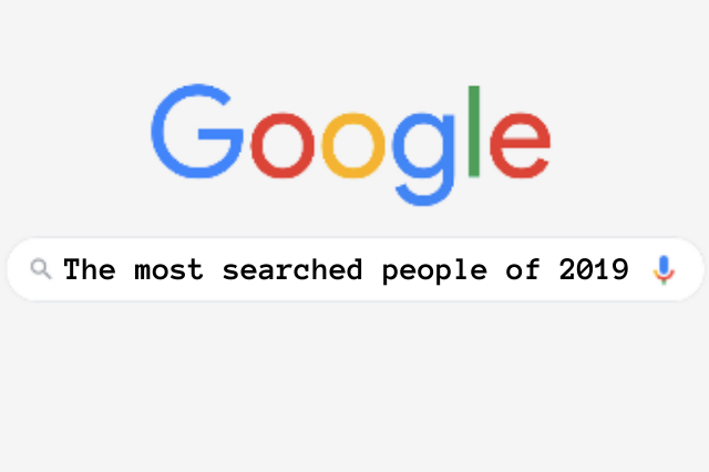 the most searched people on Google in 2019