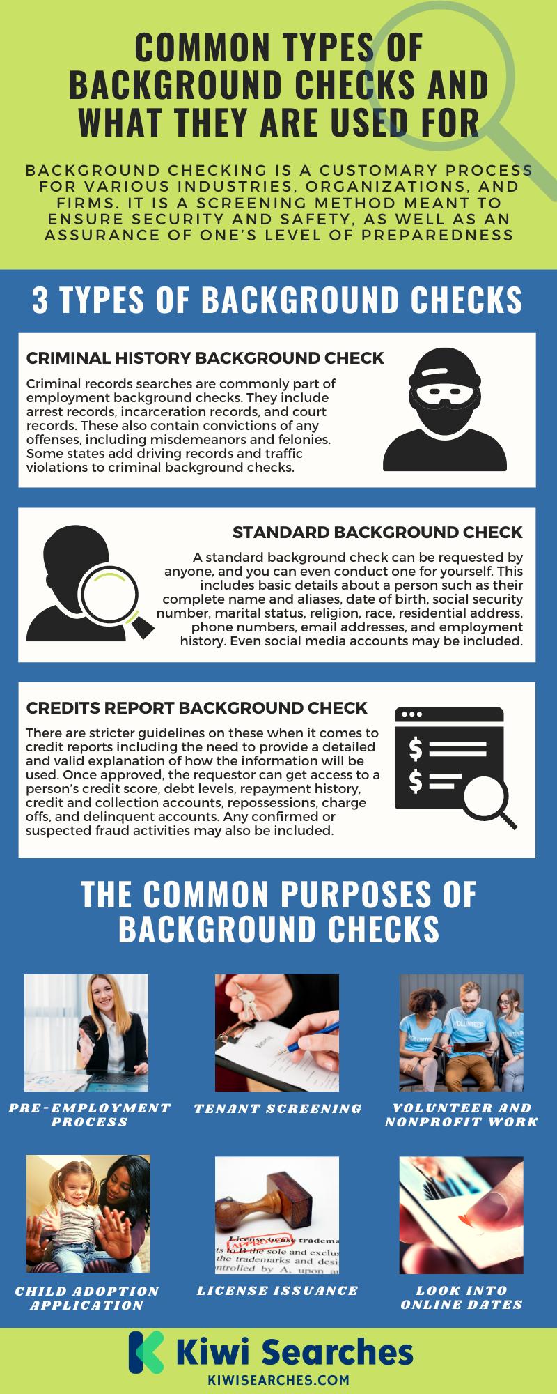 types of background checks