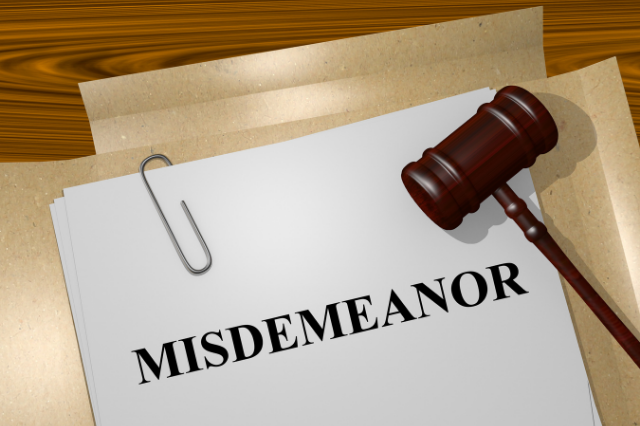 do misdeemeanors show up in background checks