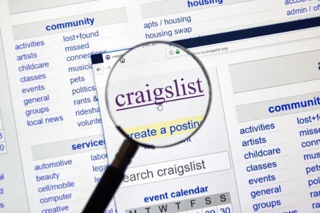 List of top scam methods on craiglist and letgo